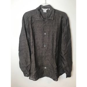 Frette Made in Italy Vintage Linen Shirt size M